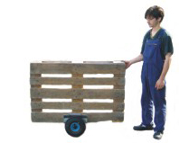 Plate-clamping trolley